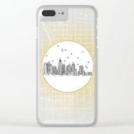 Atlanta, Georgia City Skyline Illustration Drawing Clear iPhone Case