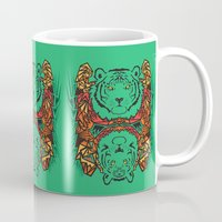 tigers Mugs featuring Tigers by Ornaart