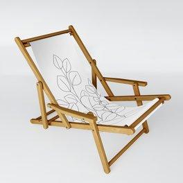 Minimalistic Eucalyptus  Line Art Sling Chair