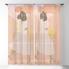 Don't look back in sadness Sheer Curtain