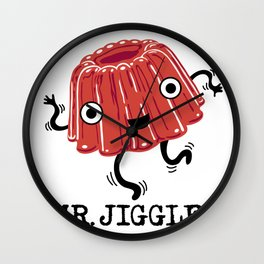 Mr Jiggles - jello Wall Clock