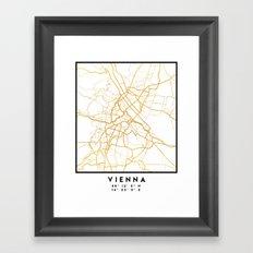 VIENNA AUSTRIA CITY STREET MAP ART Framed Art Print