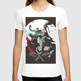 evil monsters group poster T-shirt
