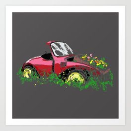 Retired Beetle Art Print