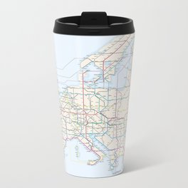 International E-Road Network Metal Travel Mug