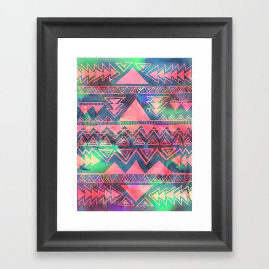 Techno Native Framed Art Print