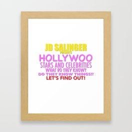 Hollywoo Stars and Celebrities Framed Art Print