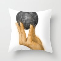 evolution Throw Pillows featuring Evolution by Booklils
