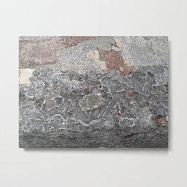 sea touched stone Metal Print