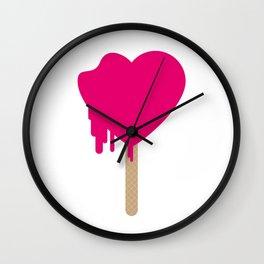 My heart is melting Wall Clock