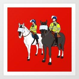 London Metropolitan Horse Cops Art Print