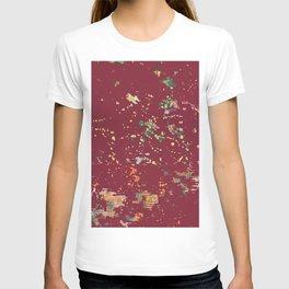Cranberry Red Bohemian Fiber Art T-shirt
