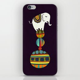 Elephant Circus iPhone Skin