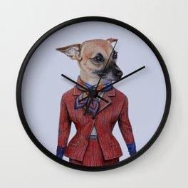 dog in uniform Wall Clock