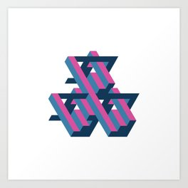 3D Geometric Pattern Art Print