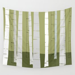 Quiet Birches Wall Tapestry