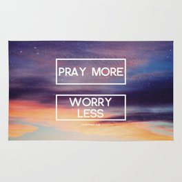Pray More  Rug