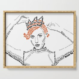 Hayley Williams Text Portrait Serving Tray