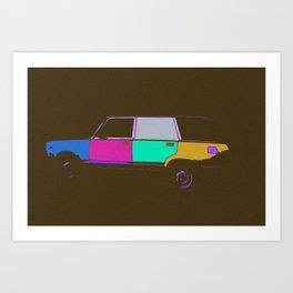 Soviet car, pop style Art Print