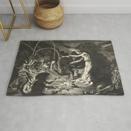 Witch - 17th Century Illustration Rug