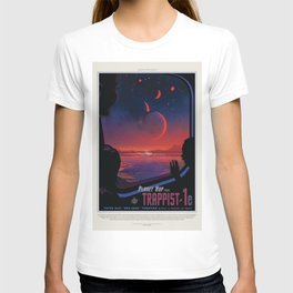NASA Visions of the Future - Planet Hop from Trappist-1e T-shirt