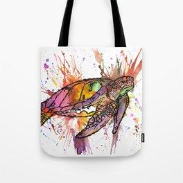 Rainbow Sea Turtle Spencer Tote Bag