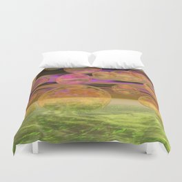 Peace in the Storm - Abstract Bronze Tranquility Duvet Cover