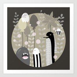 Japanese Fairy Tale \\ Piece 3 Art Print