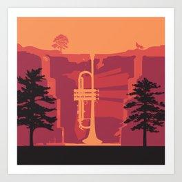 Music Mountains No. 3 Art Print
