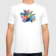 Jungle Vibe SMALL White Mens Fitted Tee