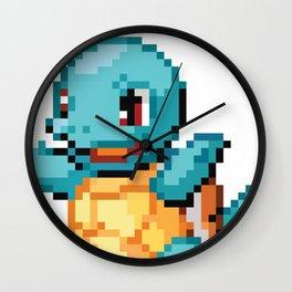 Pocket Monster - Blue Turtle Wall Clock
