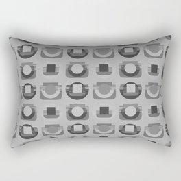 Play of Gray Rectangular Pillow