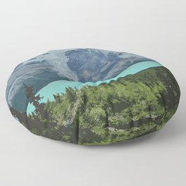 Mount Robson Provincial Park Floor Pillow