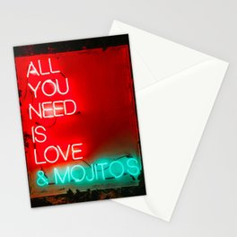Love and mojitos Stationery Cards