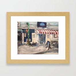 Division Street Shops, Kelley's Island Framed Art Print