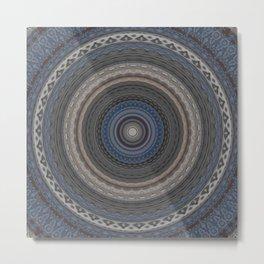 New Color Pyramidal Mandala 74 Metal Print