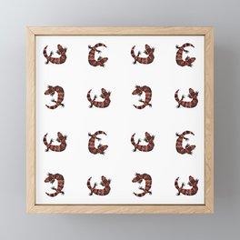 Gila Monster Pattern Framed Mini Art Print