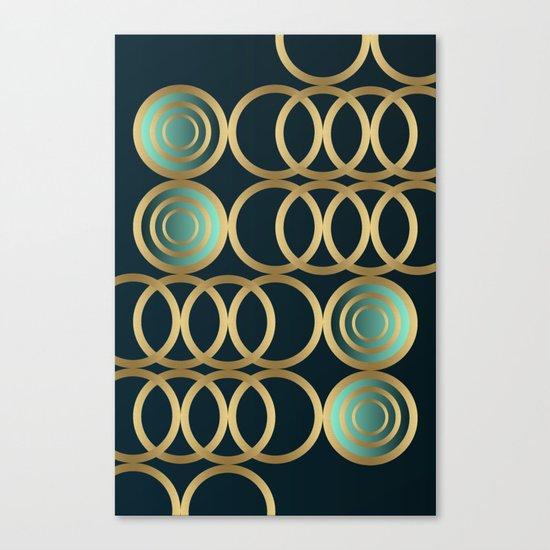 Gold Circles Game Canvas Print