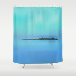 Island in the Sky Shower Curtain