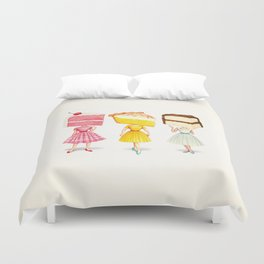 Cake Head Pin-Ups Duvet Cover