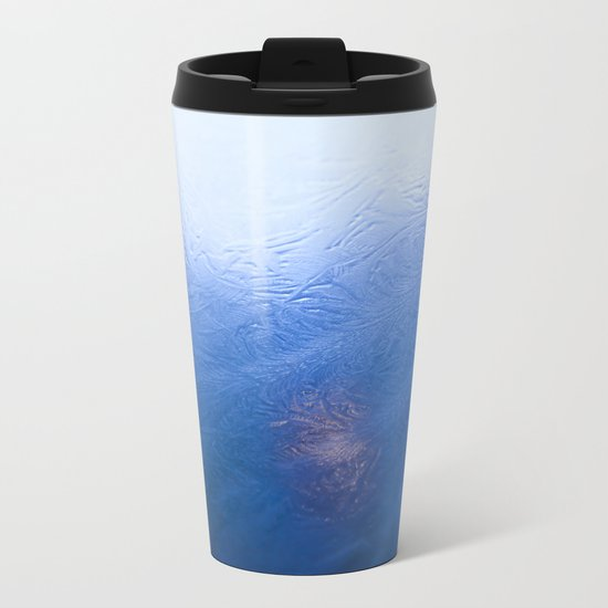 Winter Ice Metal Travel Mug