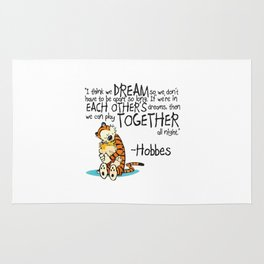 Calvin and Hobbes Dreams Quote Rug