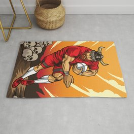 Rugby Viking - Norse Rugby Team Player Rug
