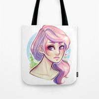 cyarin Tote Bags featuring Cotton Candy by Cyarin