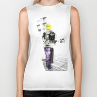 manchester Biker Tanks featuring Manchester Street FASHION by Anca Pora