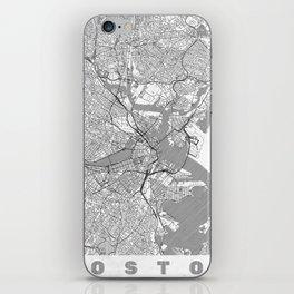 Boston Map Line iPhone Skin