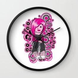 Punk Rocker Chick Wall Clock