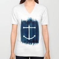 anchor V-neck T-shirts featuring Anchor by Bridget Davidson