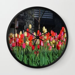 Chicago Tulips Wall Clock