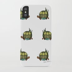 Turtle in a Circle Slim Case iPhone X